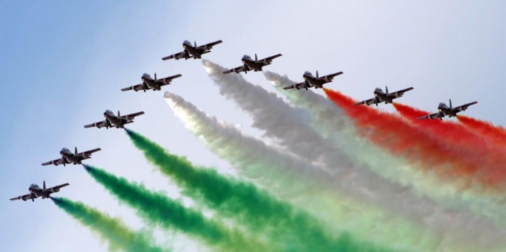 Le Frecce Tricolori per l'apertura di Friuli Doc