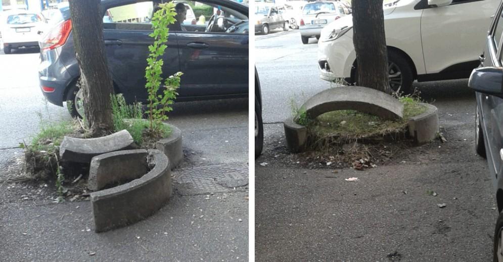 Problema sicurezza e decoro urbano in Circoscrizione 5: «Riparate i blocchi di cemento»