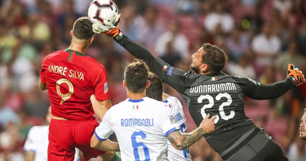 Un momento di Portogallo-Italia