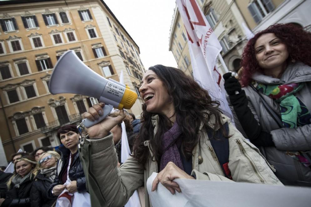 Docenti aderenti all'Anief a Montecitorio (foto di repertorio)