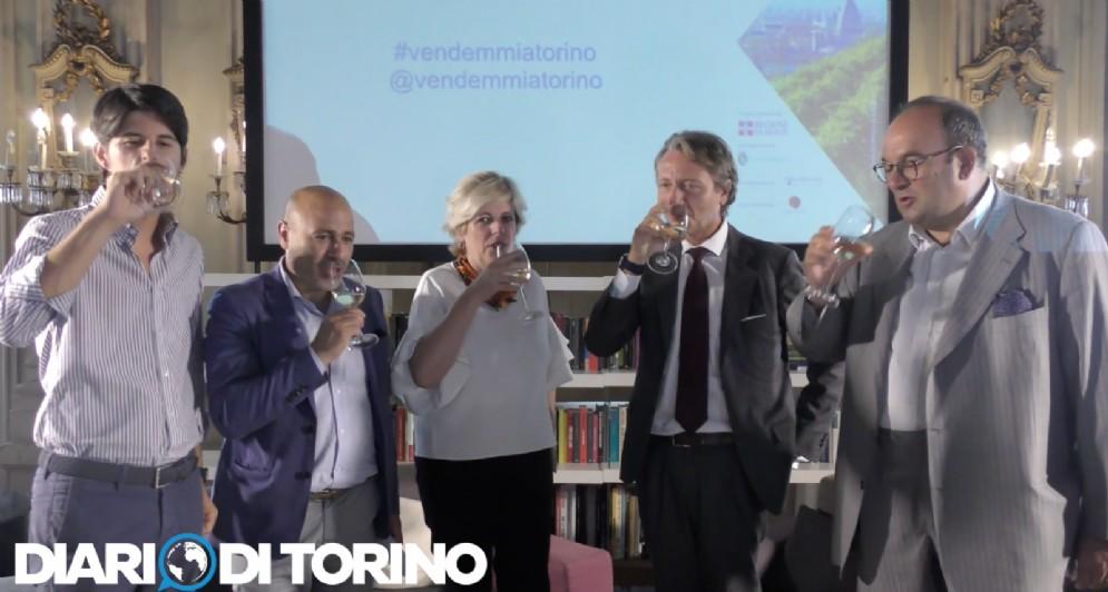 Il brindisi per la seconda edizione de «La Vendemmia a Torino»