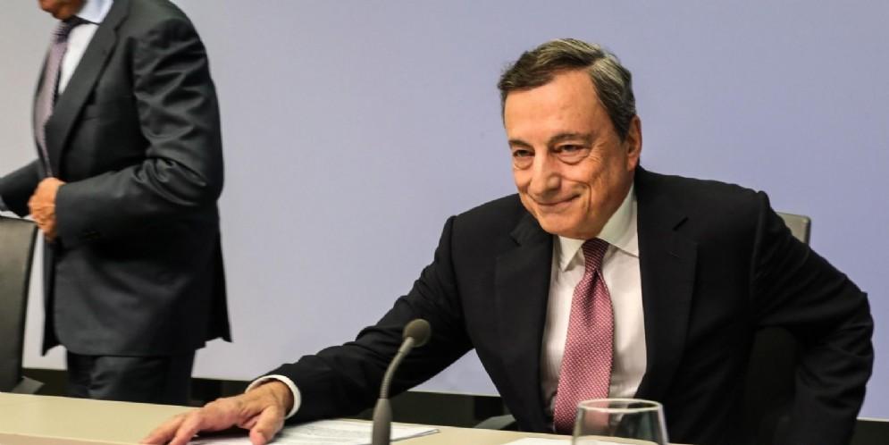 Il presidente della Banca centrale europea, Mario Draghi