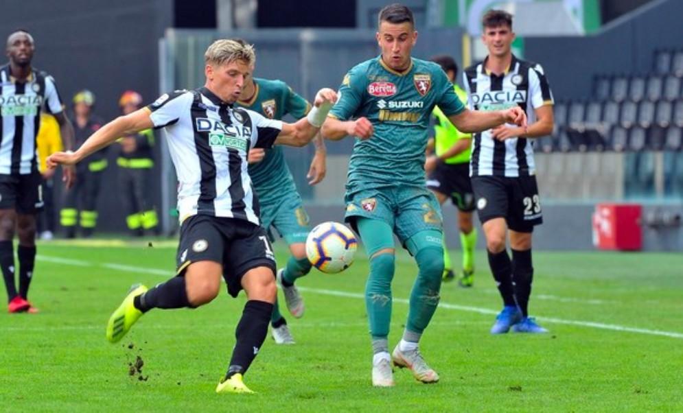Udinese e Torino pareggiano davanti a 18.800 tifosi