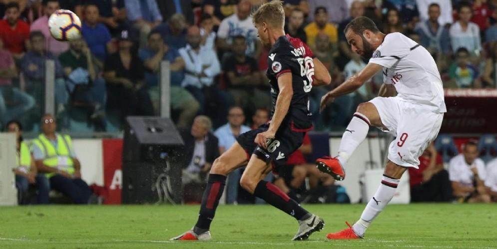 Il goleador del Milan Higuain