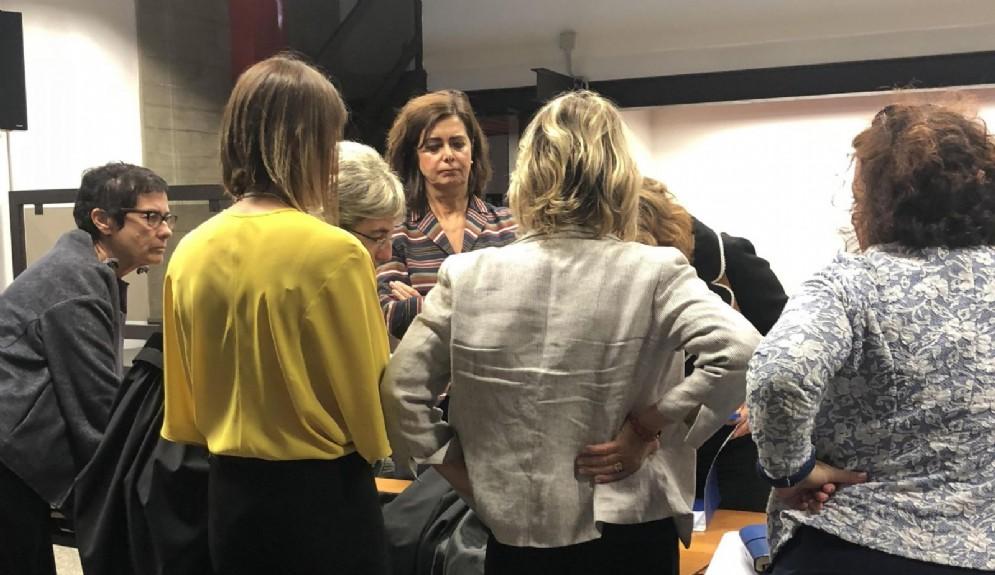 Laura Boldrini al tribunale di Savona per il processo contro il sindaco di Pontinvrea Matteo Camiciottoli