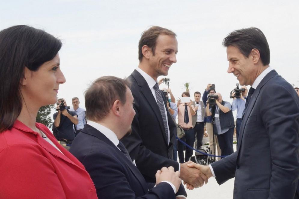 Incontro al Castello di Miramare tra il presidente della Regione Massimiliano Fedriga e Presidente del Consiglio Giuseppe Conte