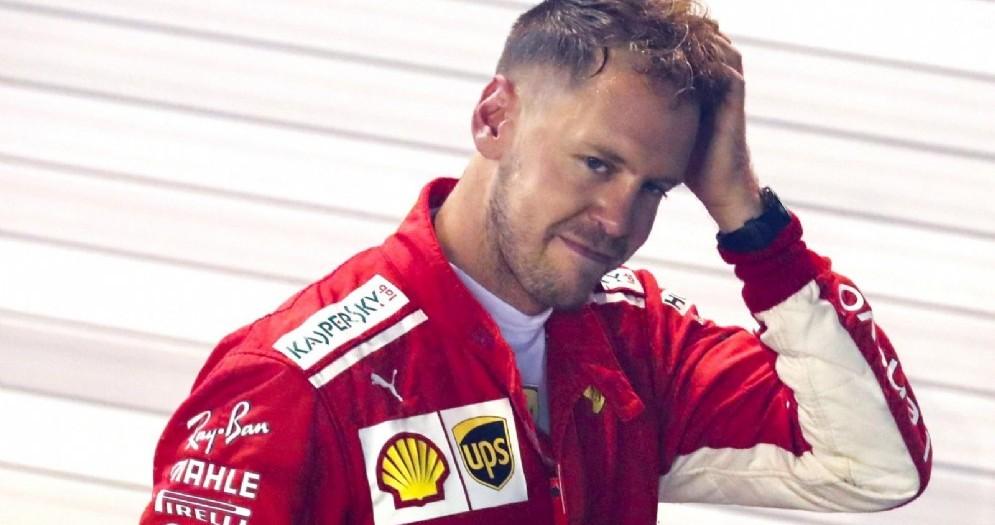La delusione di Sebastian Vettel dopo il Gran Premio di Singapore