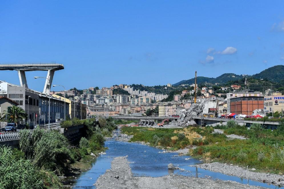 Genova, il Ponte Morandi dopo il crollo