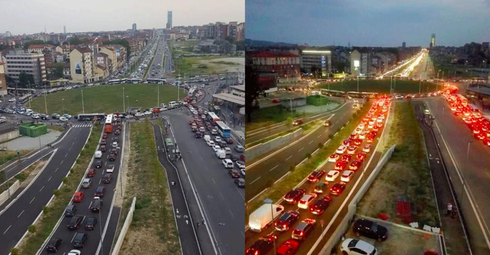 Incidente e traffico il tilt in corso Venezia: code chilometriche per tutta la sera