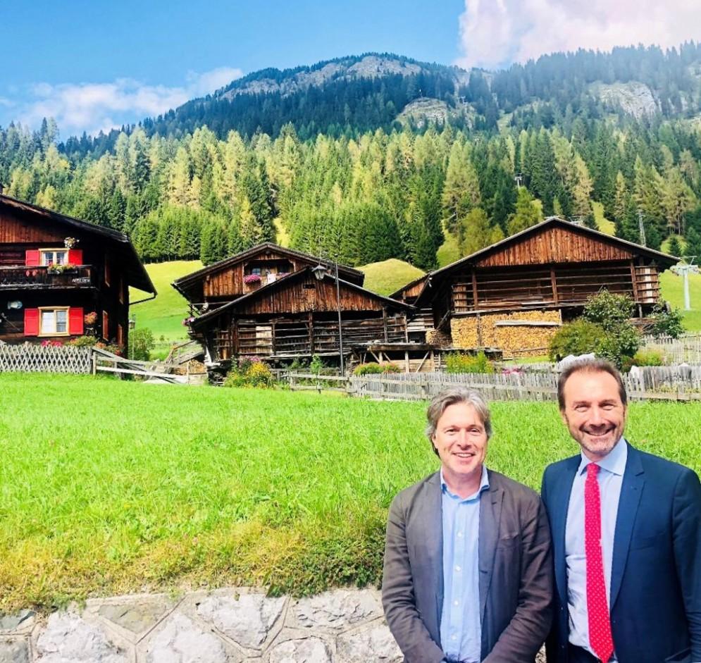 L'assessore regionale al Turismo, Sergio Emidio Bini, con il direttore generale di PromoturismoFvg, Lucio Gomiero