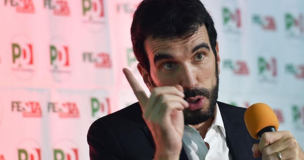 Il segretario del PD, Maurizio Martina