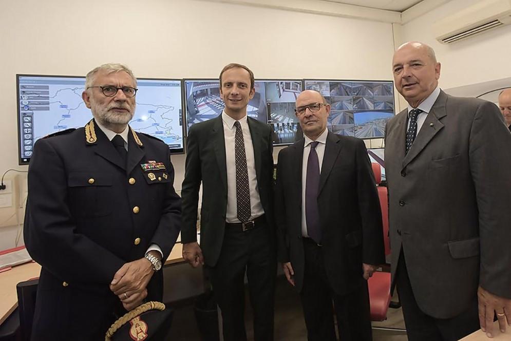 Presidente della Regione, Massimiliano Fedriga, all'inaugurazione della nuova centrale operativa della Polizia Ferroviaria