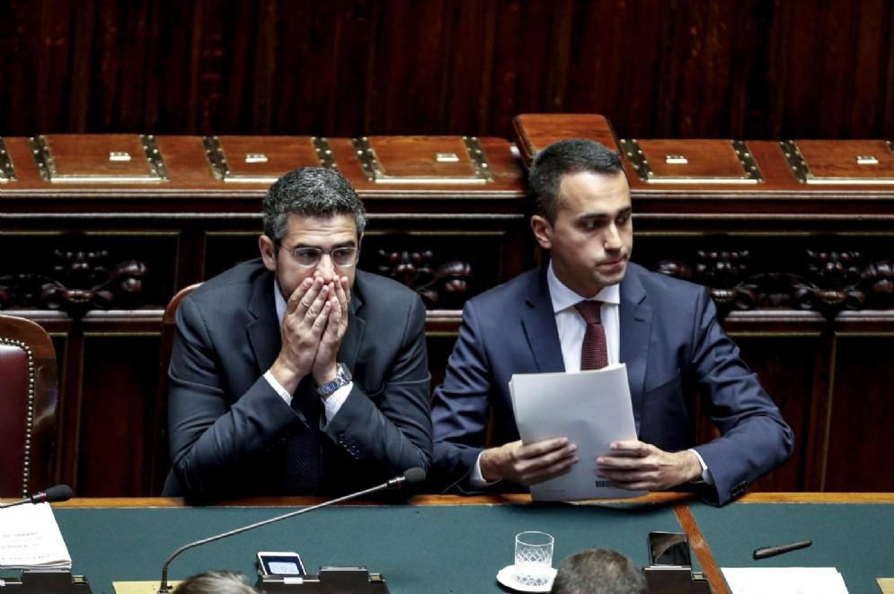 Riccardo Fraccaro e Luigi Di Maio alla Camera