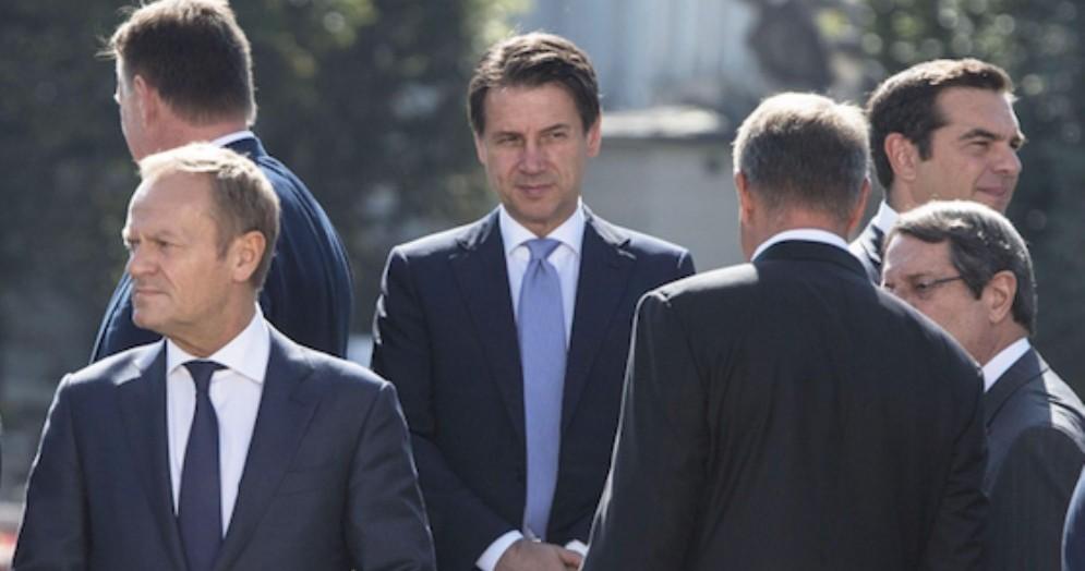 Il premier Giuseppe Conte al Summit europeo a Salisburgo