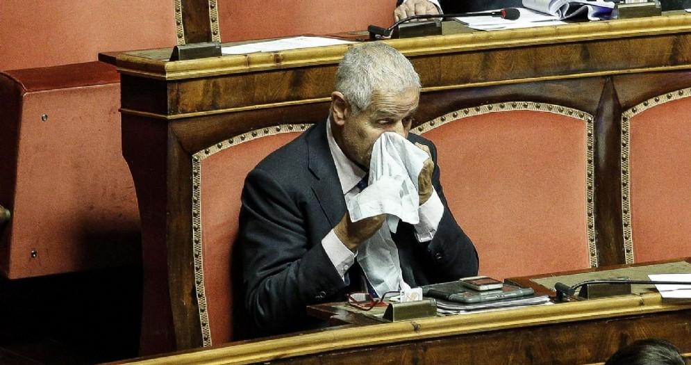 Roberto Formigoni al Senato nel luglio 2017