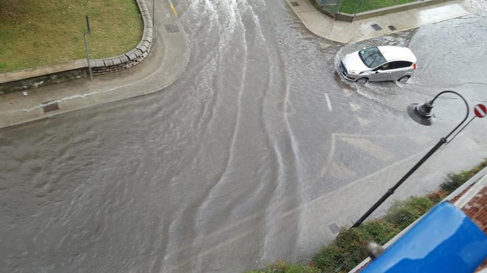 Pioggia intensa a Latisana, e la cittadina finisce sott'acqua