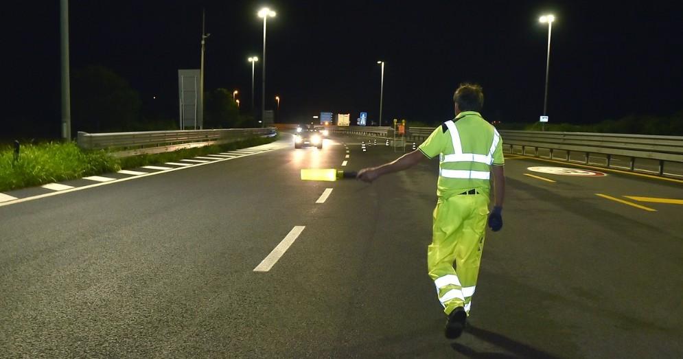 Chiusura notturna dell'A4, tutto è filato liscio nonostante la pioggia