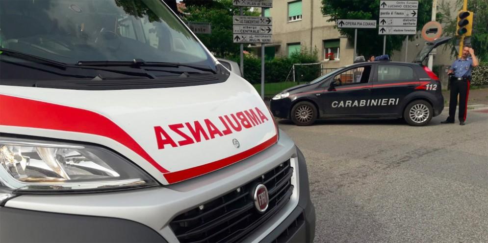 Incidente stradale a Villa Santina: ferito un centauro
