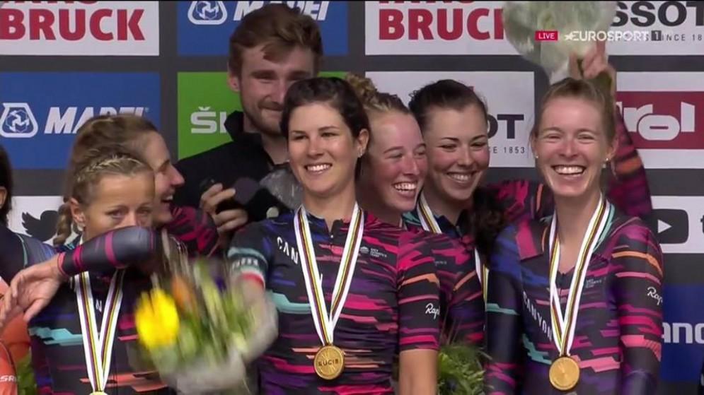 La friulana Elena Cecchini è d'oro ai Campionati del mondo UciRoad