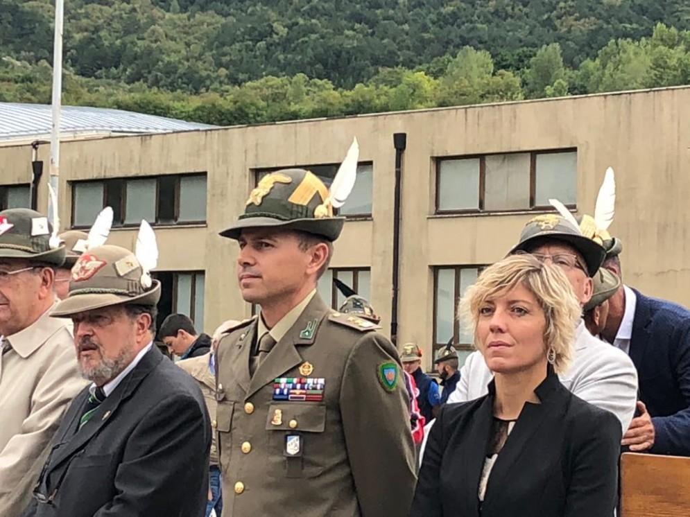 Presente assessore regionale Barbara Zilli alla manifestazione per il primo raduno della Brigata Alpini Tolmezzo a Venzone