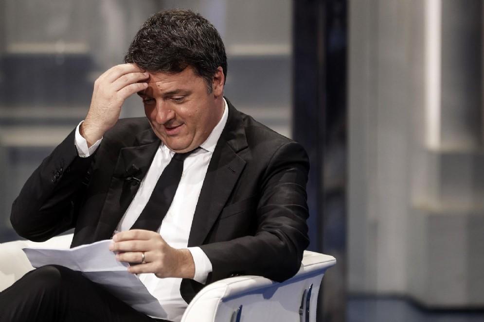 Matteo Renzi durante 'Porta a Porta', Roma, 20 settembre 2018