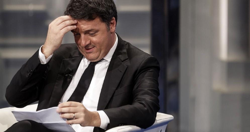 Matteo Renzi durante la trasmissione di Raiuno 'Porta a Porta'