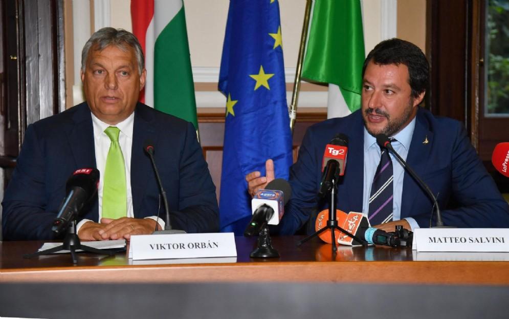 Matteo Salvini e il premier ungherese Viktor Orban