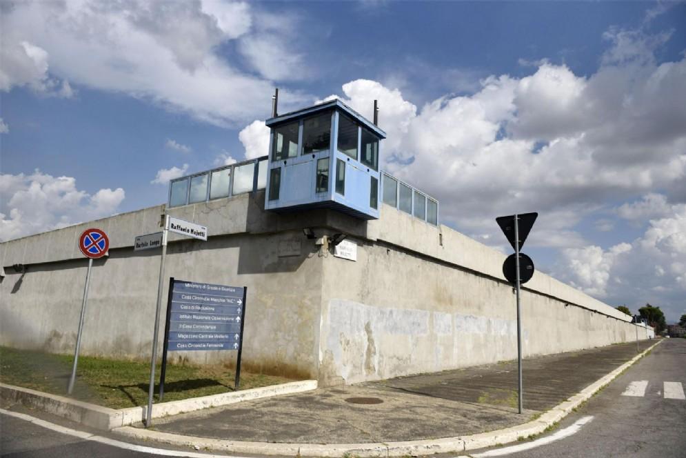 Una veduta esterna dell'area femminile del carcere di Rebibbia