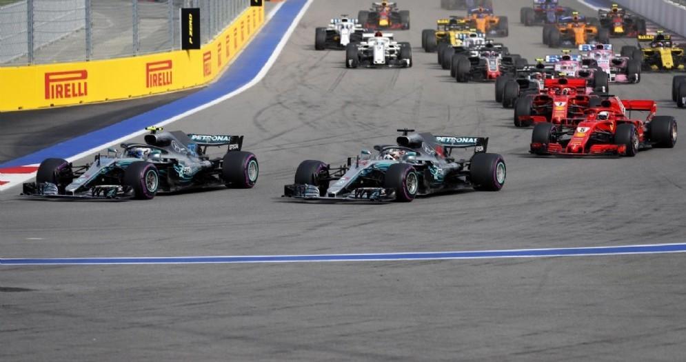 La partenza del Gran Premio di Russia