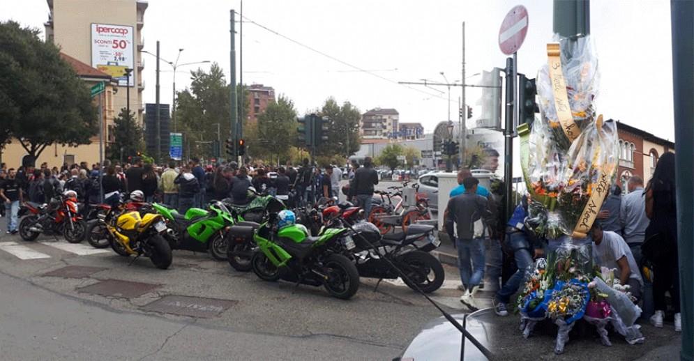 «Basta morti»: a Torino i biker chiedono sicurezza e invocano prudenza dopo la scomparsa di due ragazzi