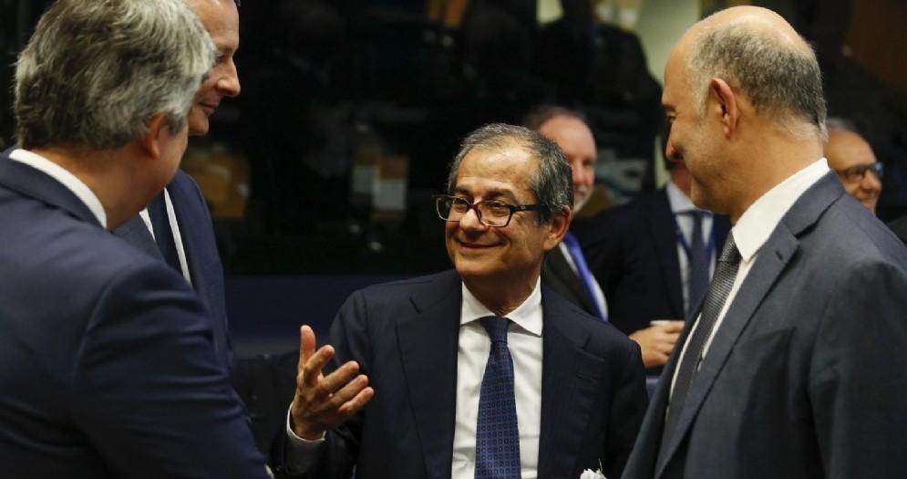 Il ministro dell'Economia Giovanni Tria all'Eurogruppo