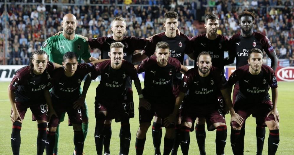 Il Milan in versione europea schierato contro il Dudelange