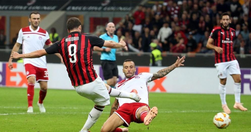 Il gol del vantaggio siglato da Gonzalo Higuain