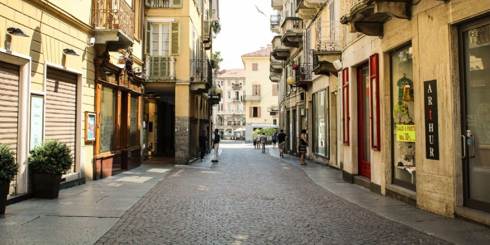Uno scorcio di Via Italia a Biella