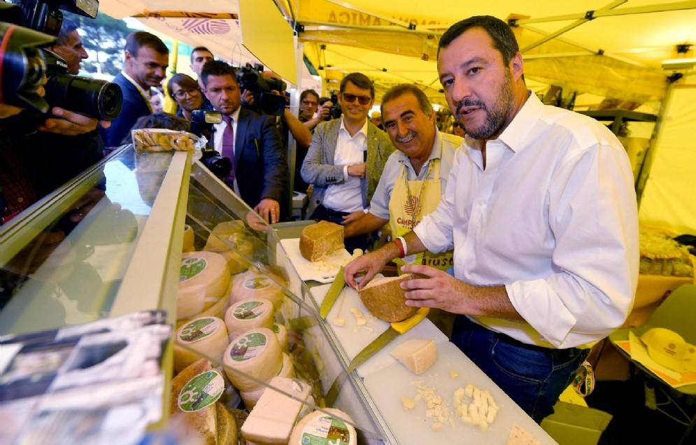 Matteo Salvini al villaggio Coldiretti di Roma