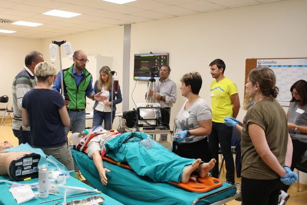 Il team dell'ospedale di Biella