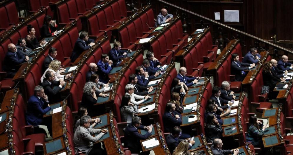 Deputati della Lega nell'aula della Camera durante il question time