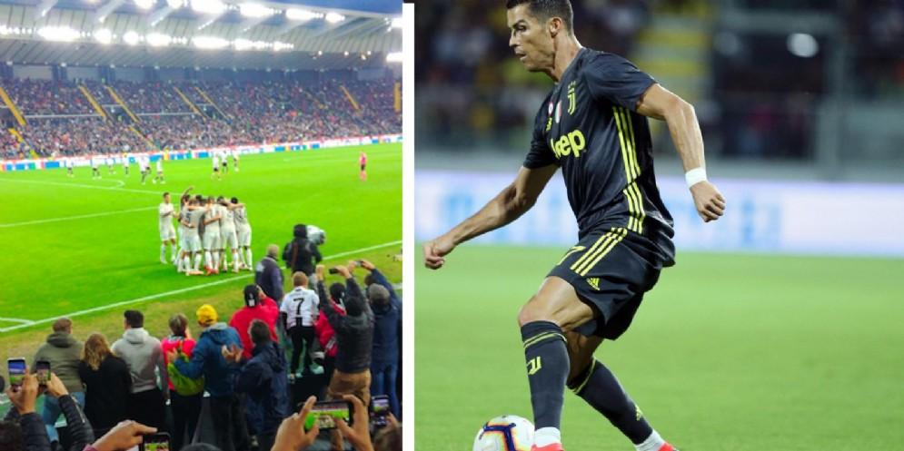 Bentancur e Ronaldo puniscono l'Udinese