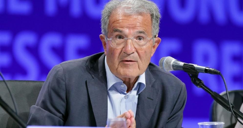 Romano Prodi durante il Meeting di Cl