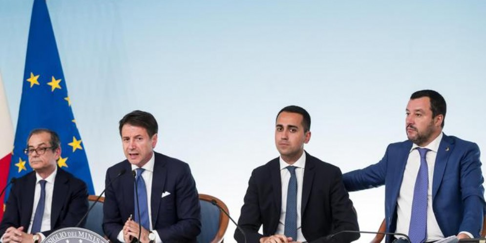 Tria, Conte, Di Maio e Salvini