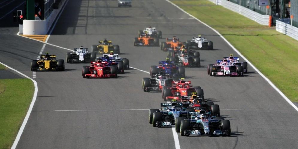 La partenza del Gran Premio del Giappone
