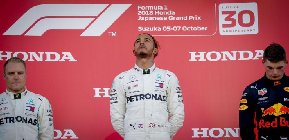 Il podio del Gran Premio del Giappone