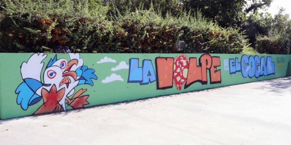 Inaugurato il murales «Playground Borgo San Sergio»