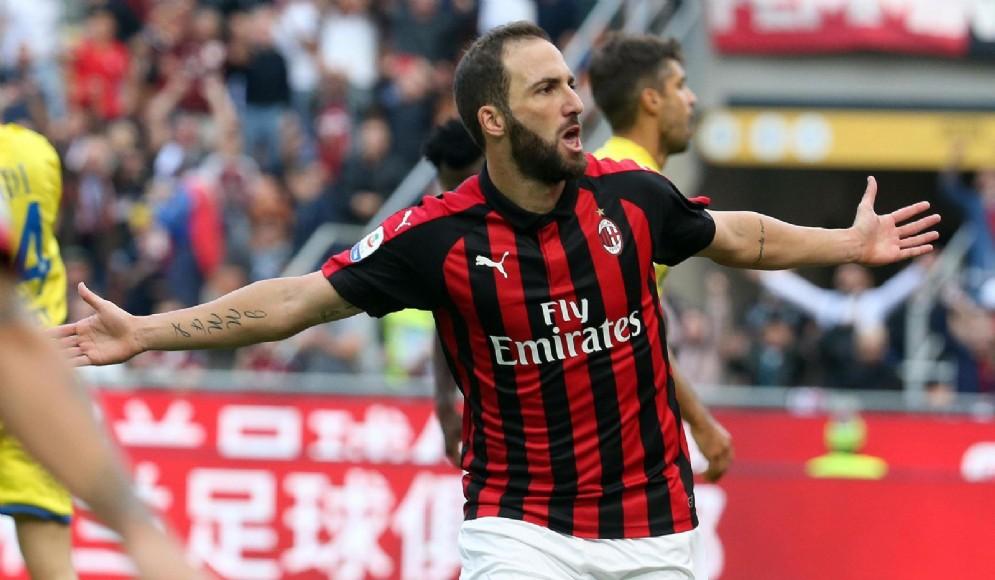 Gonzalo Higuain, centravanti del Milan
