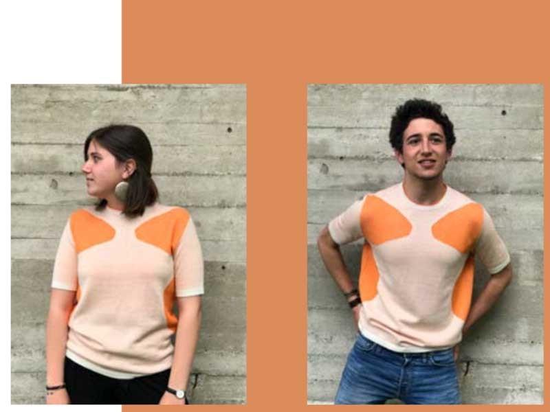 Una maglia realizzato con il Crabwool