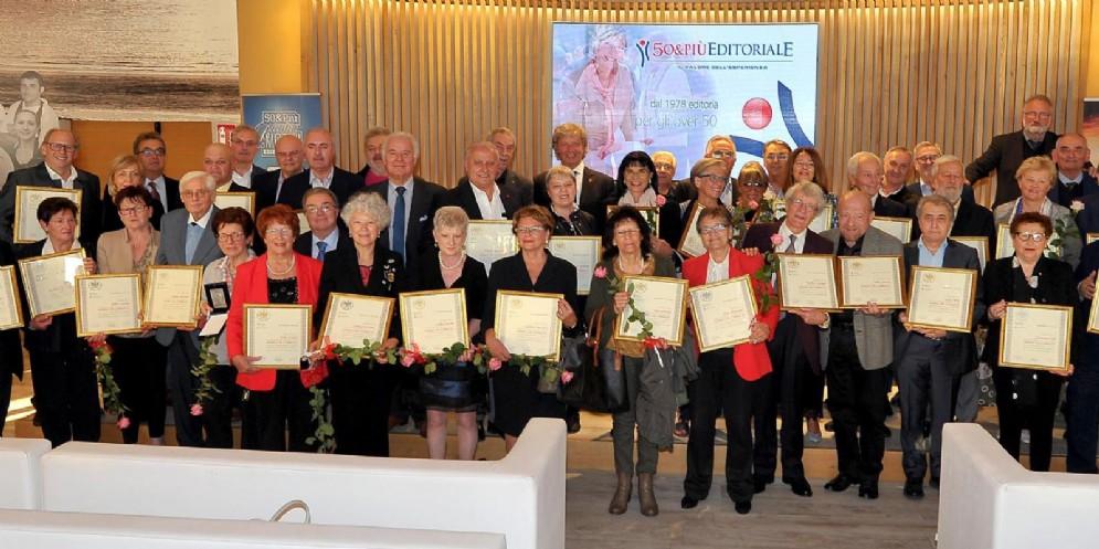 Confcommercio '50&Più' ha premiato 44 'Maestri del commercio'