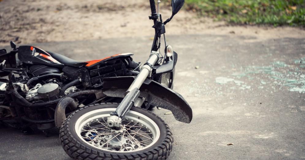 Moto incidentata - Immagine di repertorio