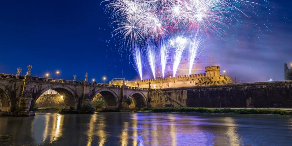 Fuochi d'artificio per Capodanno a Castel Sant'Angelo