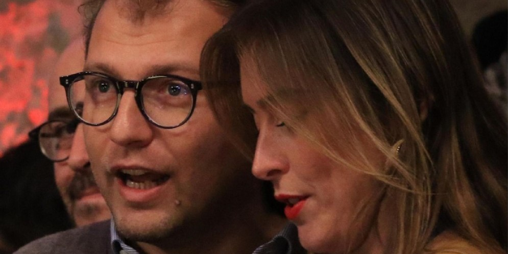 I renziani Luca Lotti e Maria Elena Boschi