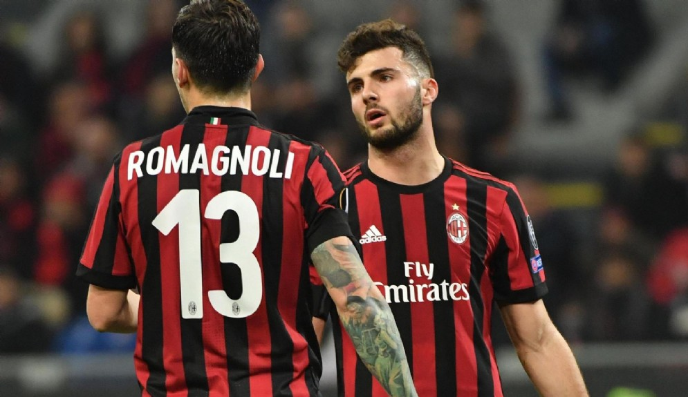 Alessio Romagnoli e Patrick Cutrone: Gattuso conta di riaverli a disposizione per il derby del 21 ottobre